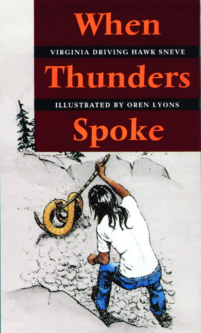 Cover image of When Thunders spoke book