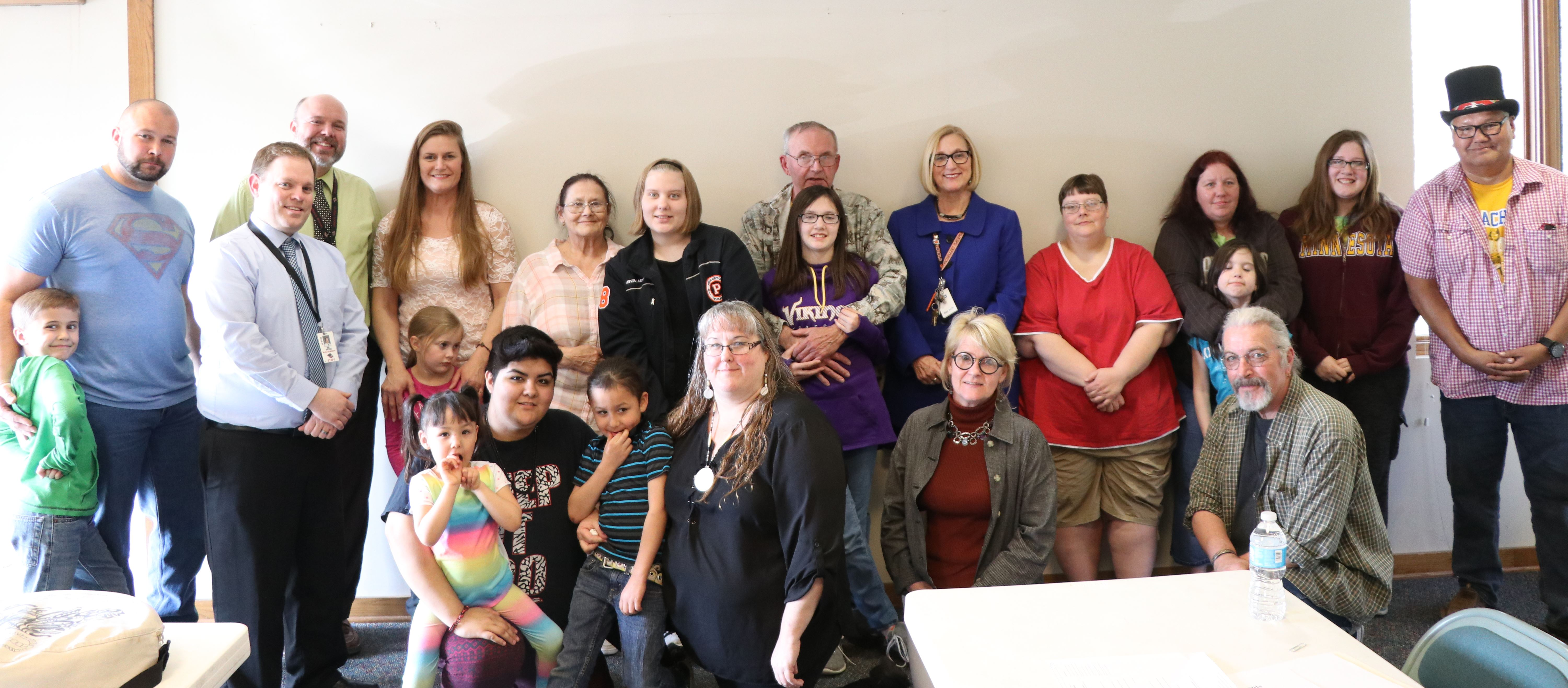 American Indian parent advisory committee group photo