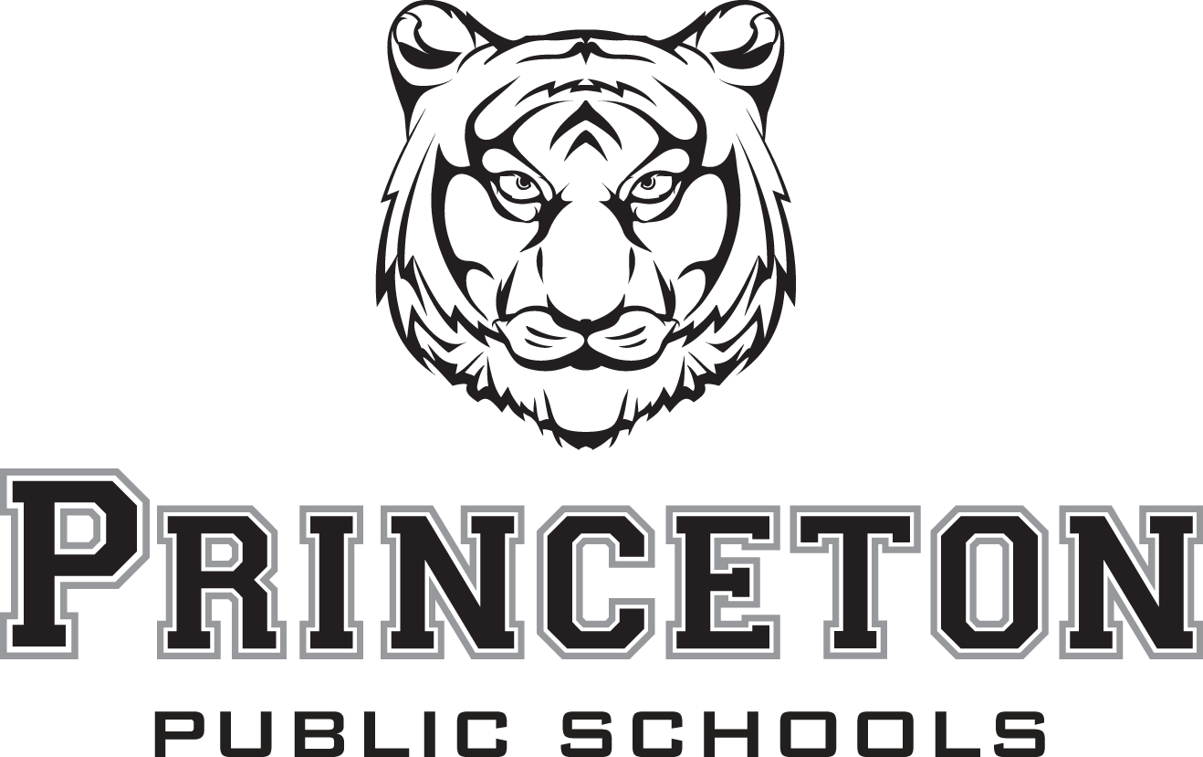 logo of princeton tiger and public schools text