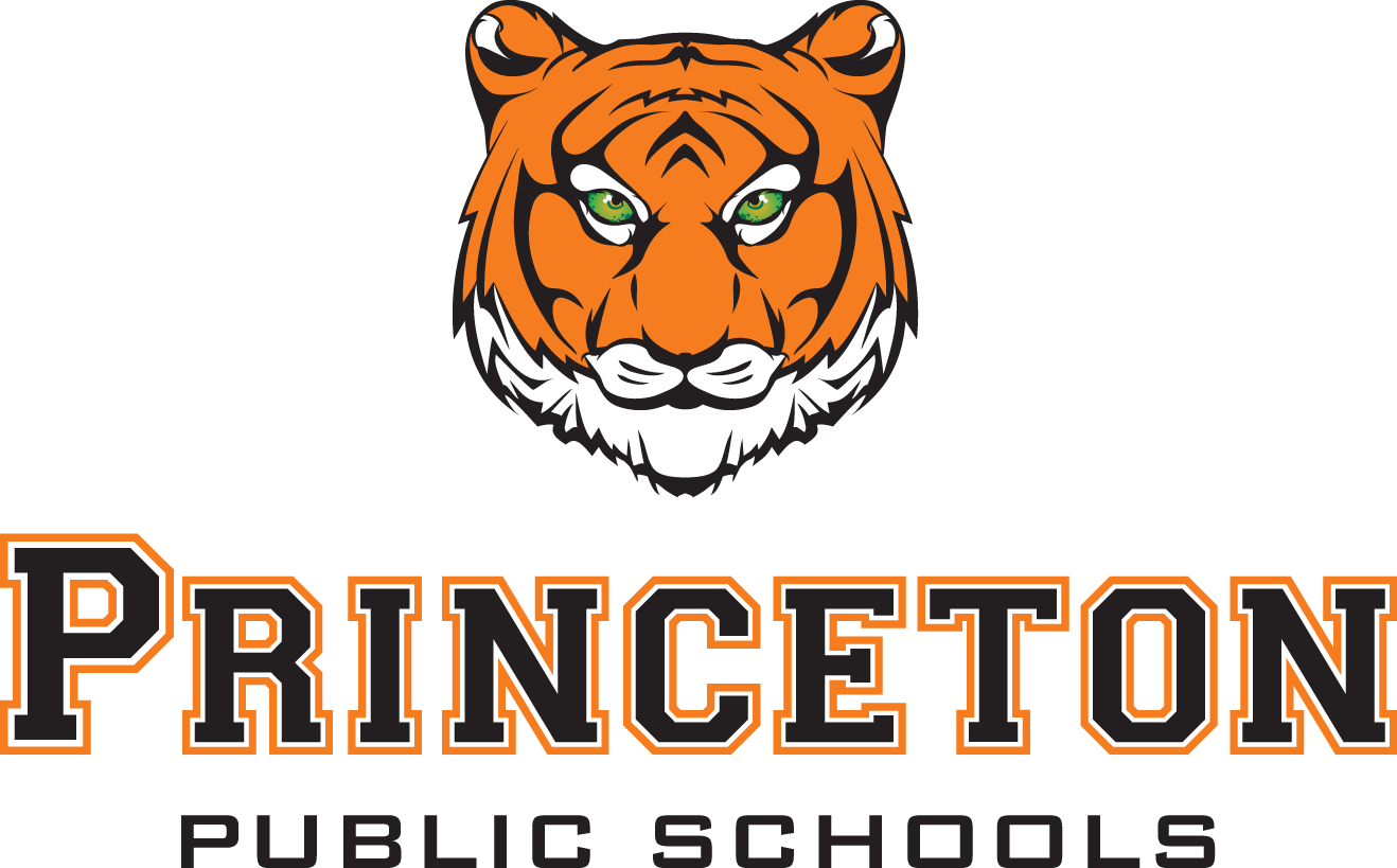 Princeton school district tiger and text logo