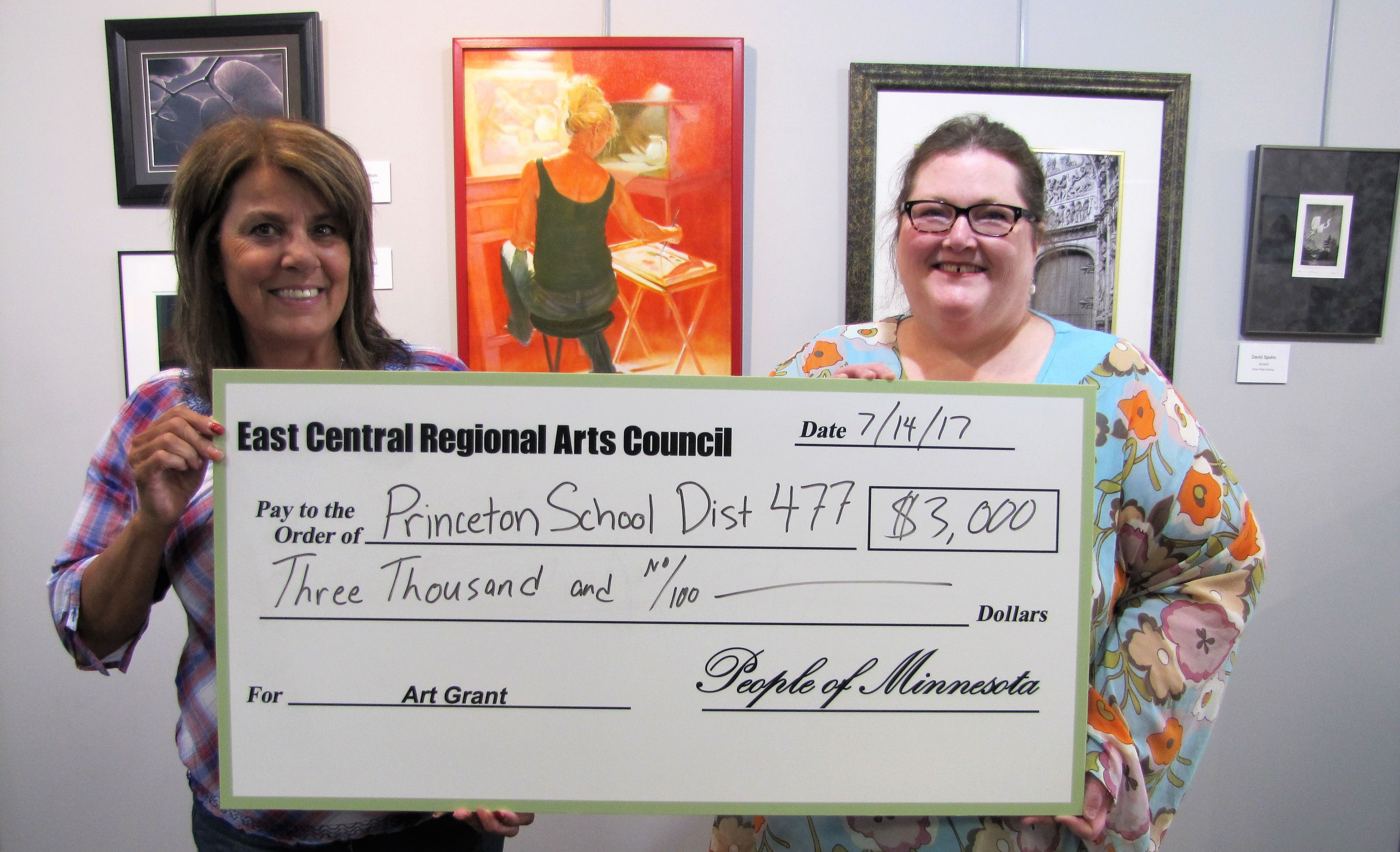 Princeton Schools receiving check for The Big Read