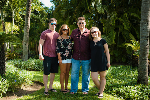 superintendent and family in tropical rainforest