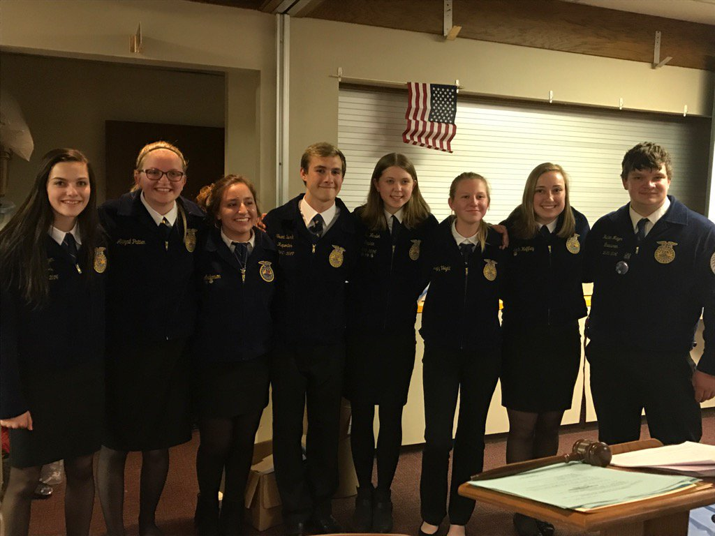 FFA students in their uniforms