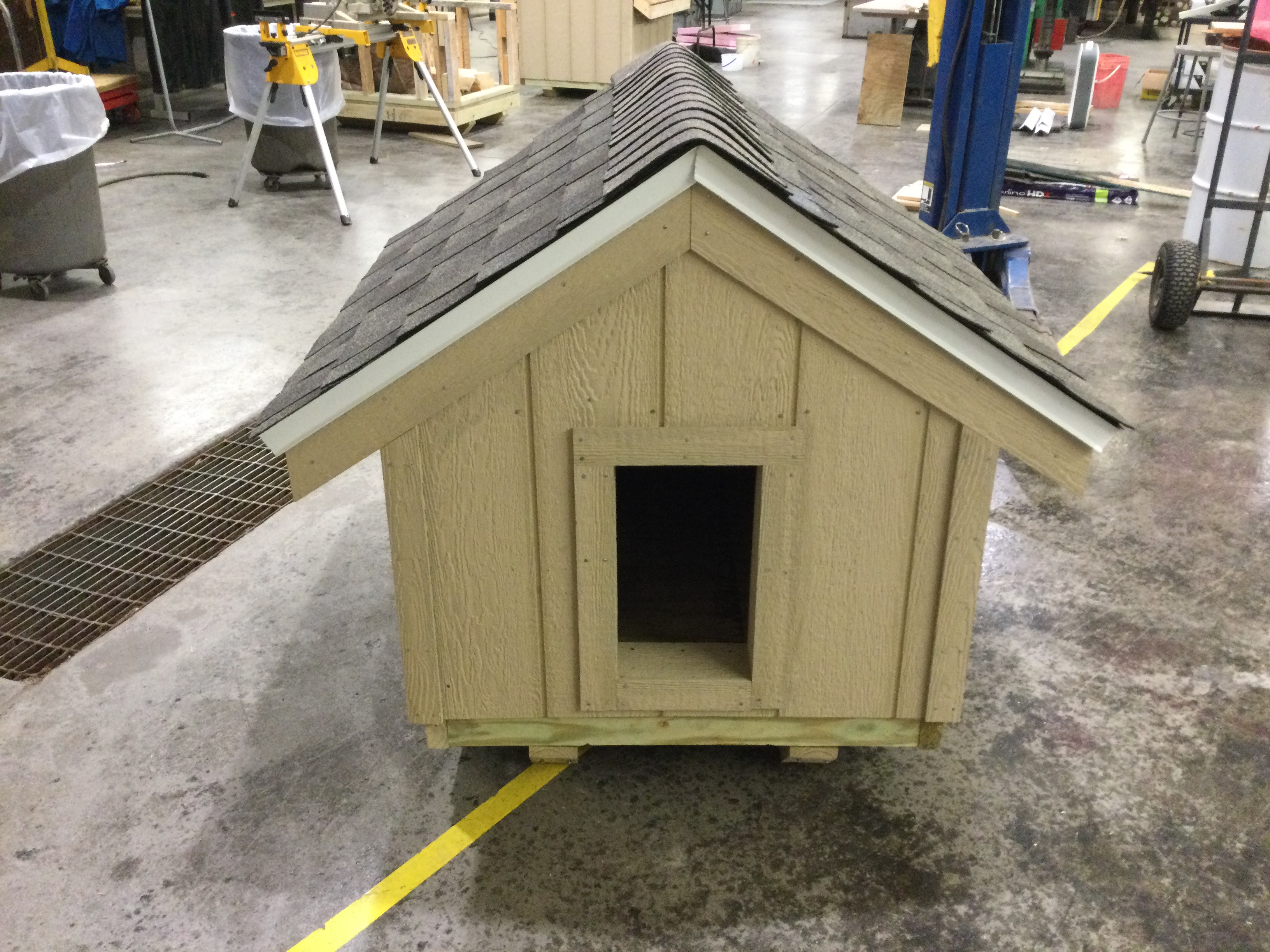 Student-Built Dog Houses for Sale