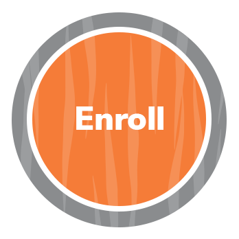 Circle with Enroll in the middle